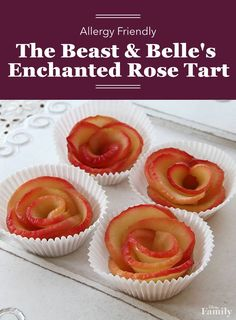 Beauty and the Beast rose apple tart