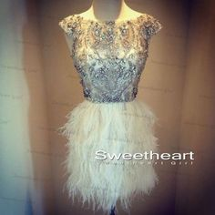Cute White Cap Sleeve Sequin Rhinestone Short Prom Dresses, Homecoming Dresses