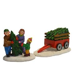 St. Nicholas Square® Village Family Picking Out Tree (Set of 2)