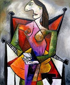 Diva in a Red Chair by Pablo Picasso More At FOSTERGINGER @ Pinterest