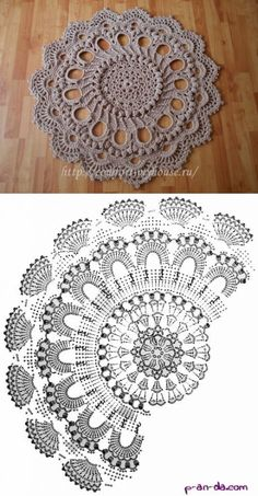 Motif Mandala Crochet, Crochet Doily Diagram, Crochet Rug Patterns, Crochet Doilies, Crochet Flowers, Thread Crochet, Lace Doilies, Flower Mandala, Diy Crafts Crochet