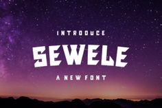Sewele is a bold display font that works great on designs related to either speed or power. Add it confidently...