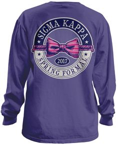 Sigma Kappa Formal T-shirt  | MetroGreek | Sorority T-shirts | Greek T-shirts | Greek Life | Sorority Formal T-shirts |