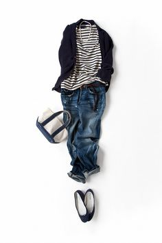 stripes and denim with black