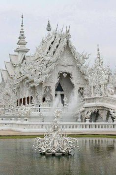 ☆ Wat Rong Khun (white temple) – Chiang Rai – Thailand ☆ beautiful would love to see Places Around The World, Oh The Places You'll Go, Places To Travel, Around The Worlds, Beautiful Architecture, Beautiful Buildings, White Temple Thailand, Beautiful World, Beautiful Places