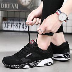 Da uomo Scarpe PVC Tessuto Inverno Primavera Estate Autunno Comoda scarpe  da ginnastica Corsa Lacci Per 15c6dbee79e