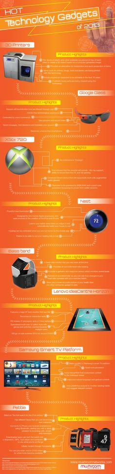 Hot Technology Gadgets of 2013 [INFOGRAPHIC]