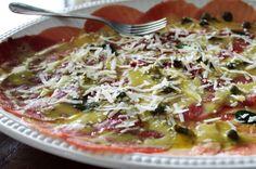 Carpaccio de Carne Caseiro com Molho Mostarda | Blog Figos & Funghis