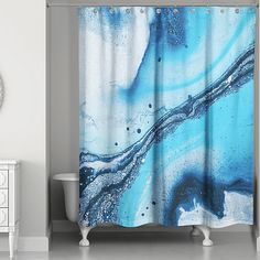 The Galaxy Marble Shower Curtain infuses your bathroom with a fresh and modern feel. More like a work of art, its abstract design complements almost any décor, and allows you to express your personal style in a colorful way.