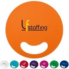 Promotional Bold Color Circle Hand Fan