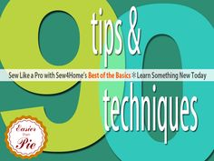 90 Sewing Tips and Tricks. Amazing resource!