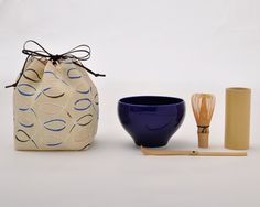 お茶ごっこ つらつら文 | 遊 中川 a mini size Japanese tea ceremony set for outdoor leasure