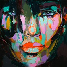 French Artist Francoise Nielly...what use of color!!  We love brights :)