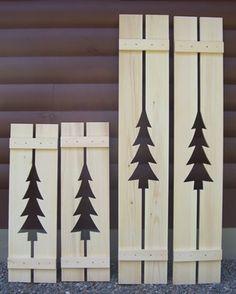 Cottage Style Exterior Shutters | Decorative Exterior Cedar ...