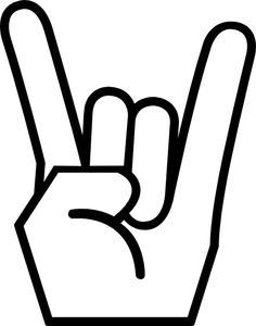 For those of you that know me, you know my husband was, is and will always be a rock star. He still looks and acts like a rock star. Rock Clipart, Hand Clipart, Music Clipart, Rock And Roll Sign, Rock Sign, Rock Hand Sign, Hand Symbols, Music Symbols, Heavy Metal