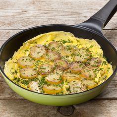 Kartoffelæggekage med purløg