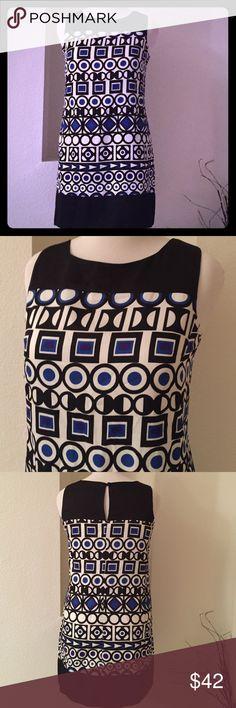 "Mod Shift Dress Mod pattern, one button back closure.  33"" long from shoulders to hem.  No stretch mark Dresses"