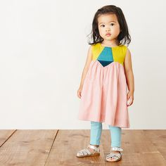 Aurora Colorblock Baby Dress | Aurora is an Italian girl's name that means dawn. This dress is a pretty pick for your little ray of sunshine.