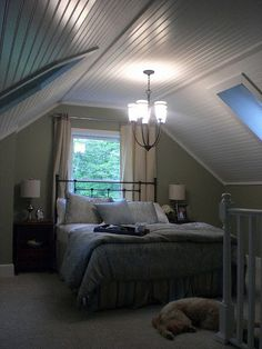 attic bedroom - how to the paint walls...in case we are ever cozy bungalow owners again someday!