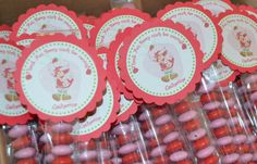Strawberry Shortcake favor tags by MyWhichCraft on Etsy, $10.00