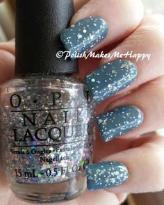 My first CMM! (Color Me Monthly) I love the pretty denim blue Blustery Day~!! Its a nice cream and a great base for this OPI glitter Snowflakes in the Air. Like ✔ Comment ✔ Share ✔ Tag ✔ Get Notifications #nailpictures #nails #notd #bluemani #denim #cmm #opi #glitter