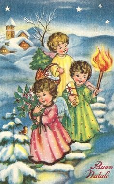 Christmas Card Images, Holiday Images, Vintage Christmas Images, Retro Christmas, Vintage Holiday, Christmas Pictures, Christmas Angels, Christmas Art, Christmas Greetings