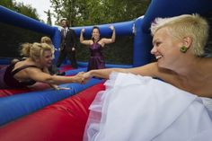 OMFG. Why didn't I think about having a bouncy house at my wedding?