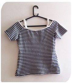 Blusinha listrada navy R$23.00