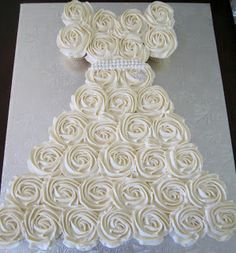 Wonderful DIY Amazing Wedding Dress Cupcake