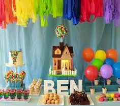 Inexpensive Party LANTERNS in TONS of colors and sizes! Kara's Party Ideas Shop UP birthday party! Vintage Superhero Birthday Party via Kara. 4th Birthday Cakes, Kids Birthday Themes, Disney Birthday, First Birthday Parties, Boy Birthday, First Birthdays, Colorful Birthday, Theme Parties, Happy Birthday