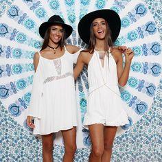 Renee + Elisha Herbert for Peppermayo ❤️ Shop the 'SUN GLAZING DRESS' + 'COME DANCE PLAYSUIT' + 'GODDESS MANDALA'