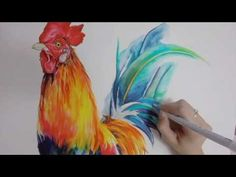 ZIG Clean Color Real Brush Rooster Speed Drawing