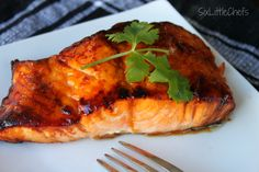 NEVER thought I'd like Salmon! Who knew quitting smoking would also give my tastebuds a new life too! Oven Baked Honey Glazed Salmon...DELICIOUS!!