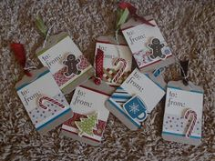 Gone 2 Stamp and Scrap with Lisa: Christmas Tags