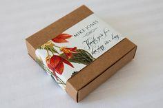 Kraft Favour Box with wrap around label by Urban Weddings