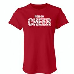 Customizable, fitted Cheer Shirts by SpiritShop- only $22.97 now.