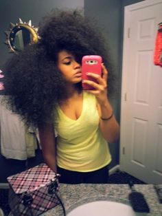 My hair goal inspiration!!! I'm gonna really try to let my hair grow back out with very minimum heat and protective styles...let's see if I could do it - Nikki