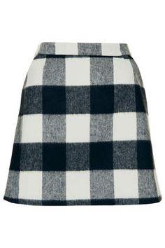 Tall Brush Gingham Aline Skirt