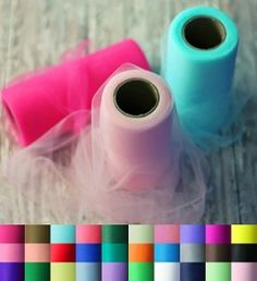 A great source for tulle by the roll. Tons of colors and each 25 yard spool is only $2.69.