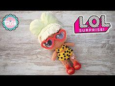 Muñecas amigurumi LOL - Patrones gratis Crochet Square Pattern, Girl Minion, Lol Dolls, Amigurumi Doll, Stuffed Toys Patterns, Crochet Dolls, Kids And Parenting, Lily, Diy Crafts