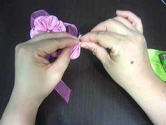 Flores Kanzashi paso a paso-video 137