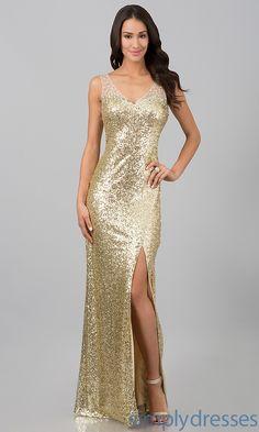 Dress, Long Sequin Prom Dress - Simply Dresses