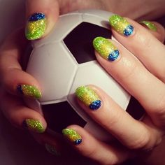 World Cup-Inspired Nail Art for Soccer Fanatics : Lucky Magazine