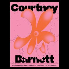 Poster for Courtney Barnett By Event Poster Design, Graphic Design Posters, Graphic Design Illustration, Graphic Design Inspiration, Palette, Band Posters, Retro Futurism, Illustrations And Posters, Design Reference