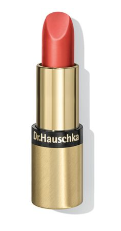 Lipstick 04- Warm Red. Rose, anthyllis, rosehip, almond oil, apricot oil, jojoba, rose wax, beeswax, candelilla wax and carnauba wax all come together to adorn and care for your lips all day. The rich compositions nurture and protect the lips. Available in 8 shades.