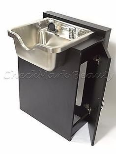 Shampoo Bowl Idea for the home Stainless Steel Shampoo Bowl Sink Cabinet Salon Equipment SS-FC Home Beauty Salon, Home Hair Salons, Beauty Salon Decor, Home Salon, Beauty Room, Beauty Studio, Ideas Decoracion Salon, Salon Ideas, Salon Sink