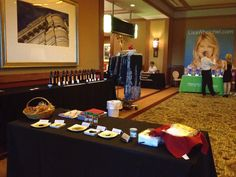 Our booth at The Healthy Women event.