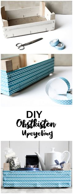 DIY Upcycling Recycling Obstkiste | Aufbewahrung | Küche | Tape | Stoff |  Box Upcycling With