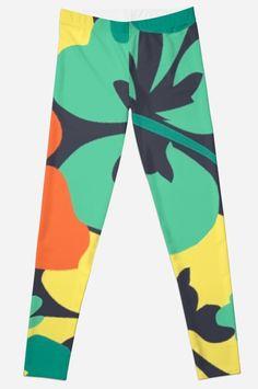 """Flower Print, Flower Pattern"" Leggings by MsD7 | Redbubble Flower Patterns, Print Patterns, Pattern Leggings, Flower Prints, Knitted Fabric, Chiffon Tops, Crew Neck Sweatshirt, Mini Skirts, Women's Fashion"