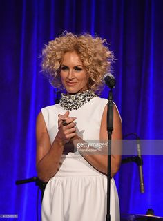 Musician Kimberly Schlapman of Little Big Town appears onstage during the Food Bank For New York City Can Do Awards Dinner Gala at Cipriani Wall Street on April 21, 2015 in New York City.